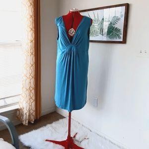 La Leche League light blue sleeveless dress
